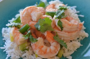 Lime Ginger Shrimp with Coconut oil