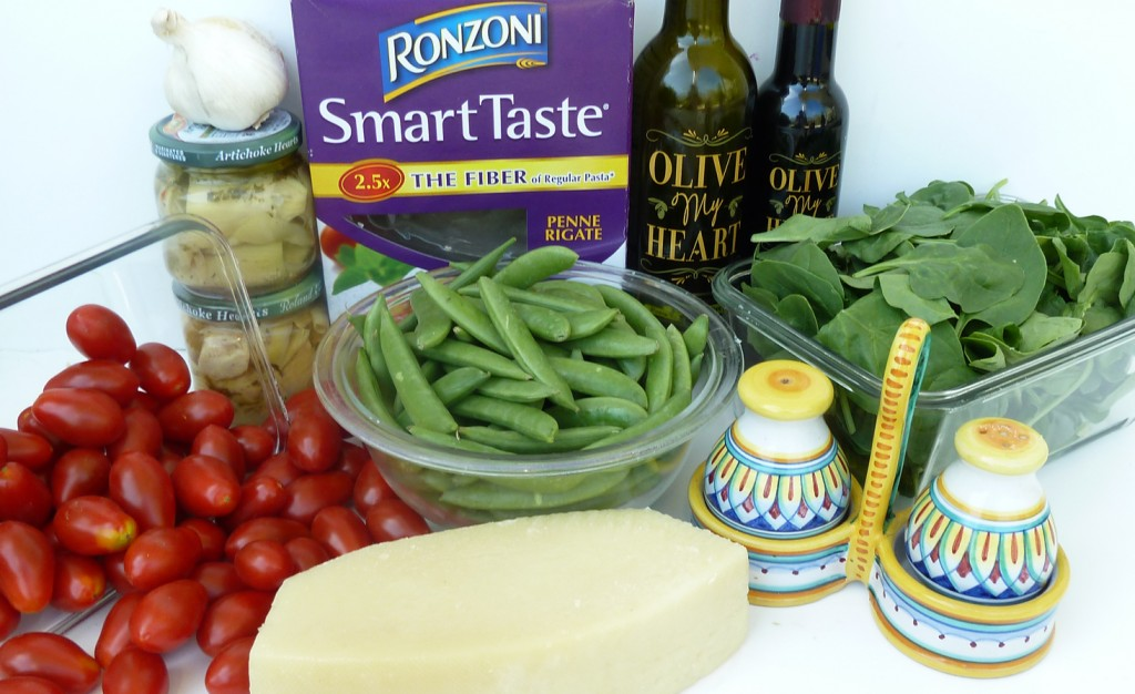 Snap Pea Pasta Salad Ingredients