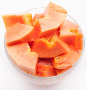 papaya, cut-up